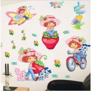 Stenske Nalepke za Otroke - Jagodka - HL5620 - 50x70cm