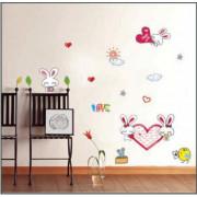 Stenske Nalepke za Otroke - I Love You - DM57-0111 - 50x70cm