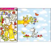 Stenske Nalepke za Otroke - Opičje Norčije - TC969 - 60x33cm