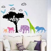 Stenske Nalepke za Otroke - Afriške Živali - LB1616 - 60x33 cm