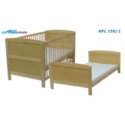 Otroška Posteljica Alfaplus APL 150/1 140x70 cm - NATUR