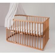 Dodatek za Pretvorbo Babybay Original v Otroško Posteljico 131x81 cm - Neobdelan Les - 170100