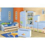 Otroška Soba Baggi z Dvo Delno Omaro - Blue Lagoon