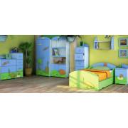 Otroška Soba Baggi z Dvo Delno Omaro - Dino World