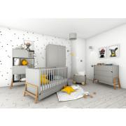 Otroška Soba - Bellamy Lotta Grey z Dvo Delno Omaro - Siva