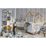Otroška Soba - Bellamy Pinette z Dvo Delno Omaro - Belo-Natur