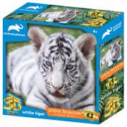 SESTAVLJANKA 3D - BELI TIGER 63 KOS 31x23cm ANIMAL PLANET - 422261