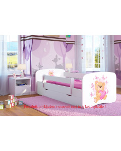 Otroška Posteljica AllMeble-Baby Dreams - NOV MODEL - 140x70 cm - Medvedek 3