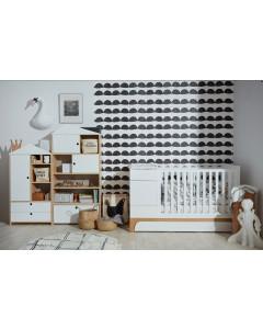 Otroška Posteljica - Bellamy UP - Multifunkcijska - 70x120 - 70x160 cm - SNOW BELA