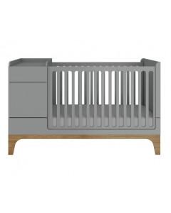 Otroška Posteljica - Bellamy UP - Multifunkcijska - 70x120 - 70x160 cm - SIVA