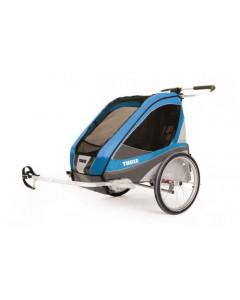 Kolesarska Otroška Prikolica - Thule - Thule Chariot Corsaire2+Cycling - Moder - 10100237