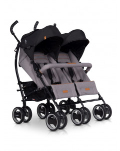 Voziček za Dvojčke EasyGo Comfort Duo - Grey Fox - NEW
