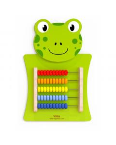 Lesena Igrača - Abacus - Žaba - 50679 - Viga Toys