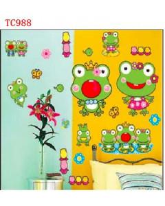 Stenske Nalepke za Otroke - Žabice - TC988 - 33x60cm