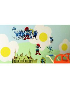 Stenske Nalepke za Otroke - Smrkci - DM57-0114 - 50x70cm
