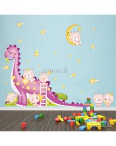 Stenske Nalepke za Otroke - Velik Dinozaver - JM7180 - 60x90cm