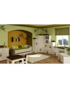 Otroška Soba Baggi z Dvo Delno Omaro - Panda