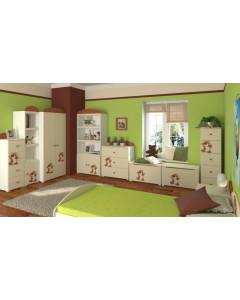 Otroška Soba Baggi z Dvo Delno Omaro - Teddy Bear