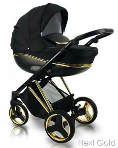 Otroški Voziček - Bexa - Special Edition GOLD Edition - 3v1 - nEXT Gold