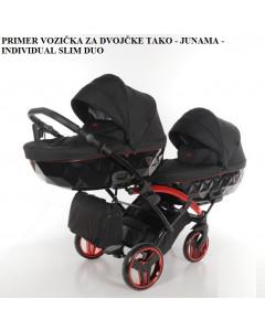 Voziček za Dvojčke - Tako - Junama - Individual SLIM duo 2v1 - 01